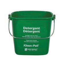 San Jamar® KP256GN Kleen-Pail® 8 Quart Green Detergent Pail