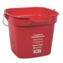 San Jamar® KP320RD Kleen-Pail® 10 Quart Red Sanitizer Pail