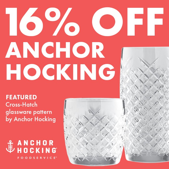 Save 16% On Anchor Hocking Glassware