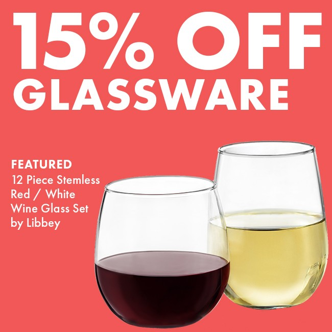 Save 15% On Glassware