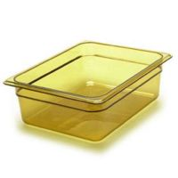 Half Size Amber Food Pan