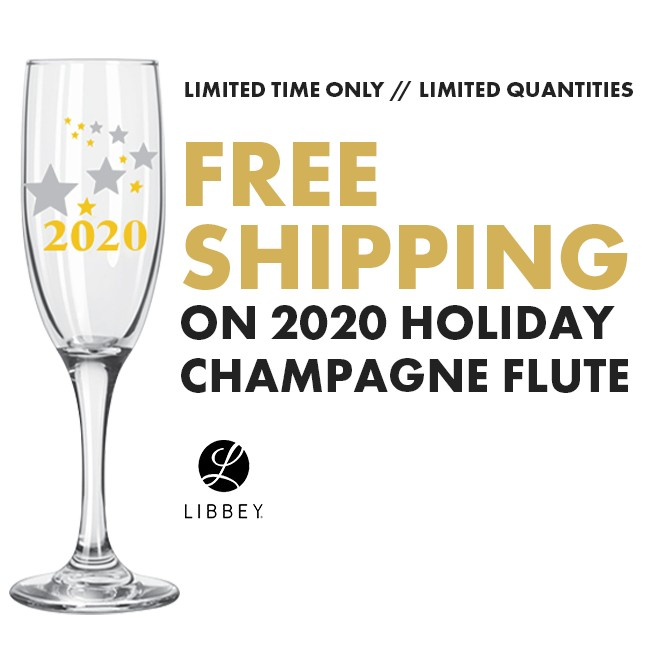 Free Shipping on the 2020 Champagne Flute