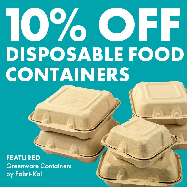 Save 10% On Disposable Food Containers