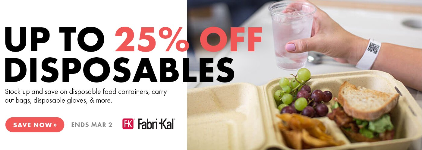 Save 25% On Disposables