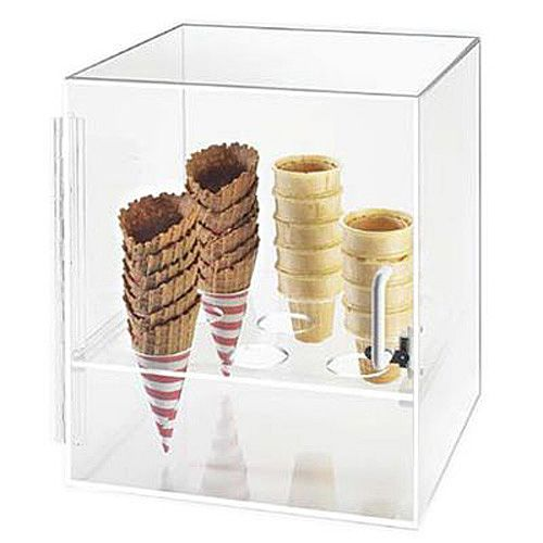Clear Acrylic Ice Cream Cone Storage Rack Shop Counter Display Holder Stand
