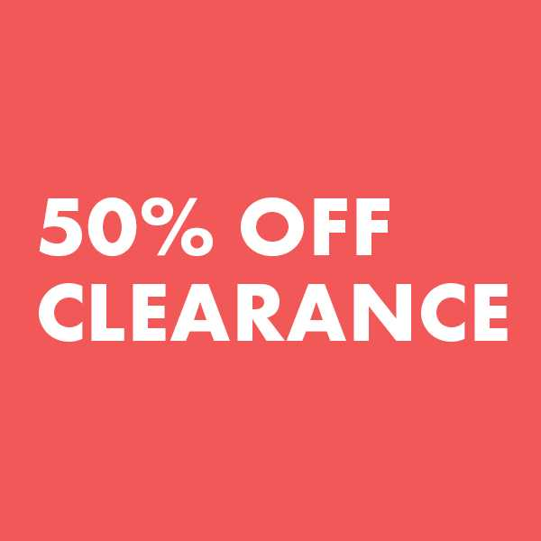 50% Off Clearance Markdowns