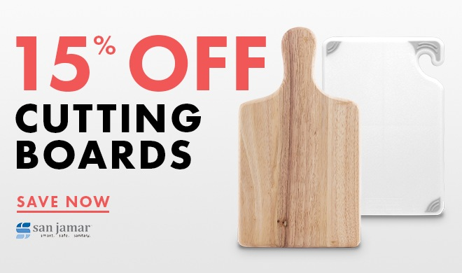 Save 15% On Cutting Boards