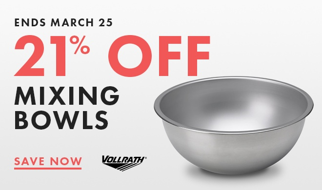 Save 21% On Mixing Bowls