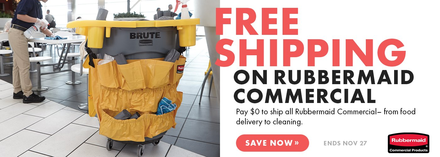 Free Ground Shipping On Rubbermaid Commercial