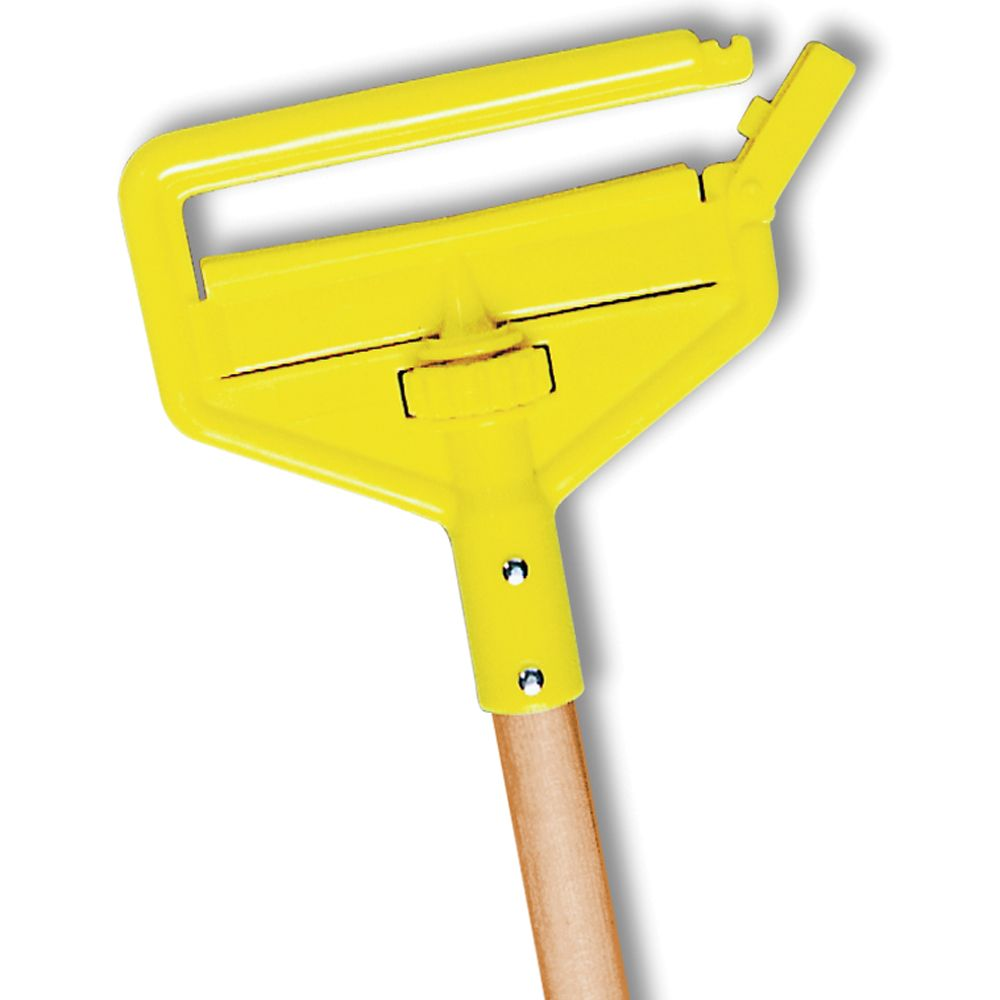 Hardwood Handle Pack of 12 54 Rubbermaid Commercial Products FGH215000000 Gripper Clamp-Style Wet Mop