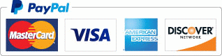 We Accept PayPal (Visa, Mastercard, Discover, American Express)