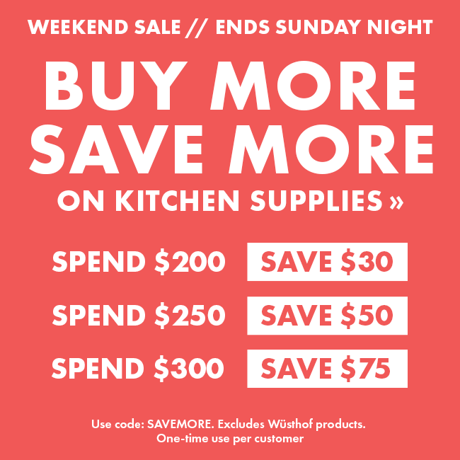 Up to $75 Off Kitchen Supplies