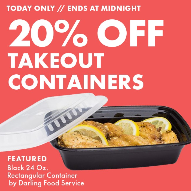 20% Off Disposable Food Containers