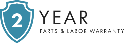 2 Year Parts & Labor Warranty